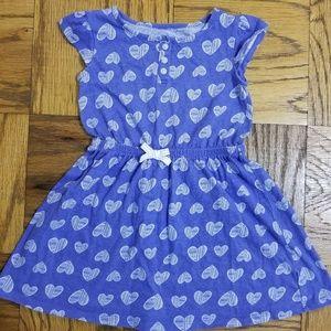Girl's 4T Jumping Beans Blue Cotton Hearts Dress